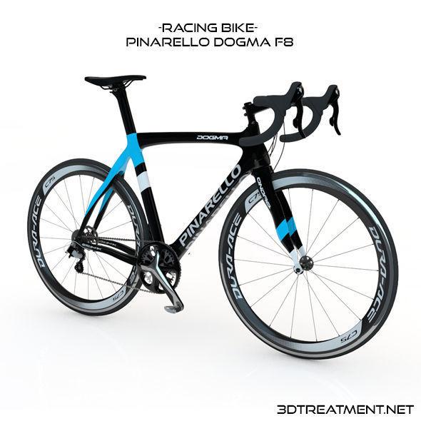 racing bike pinarello dogma f8 3d cgtrader