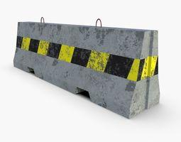 3D asset game-ready Concrete Barrier