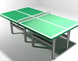 3D model Game Court - Table Tennis