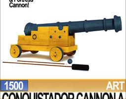 3d model conquistador cannon a 1500
