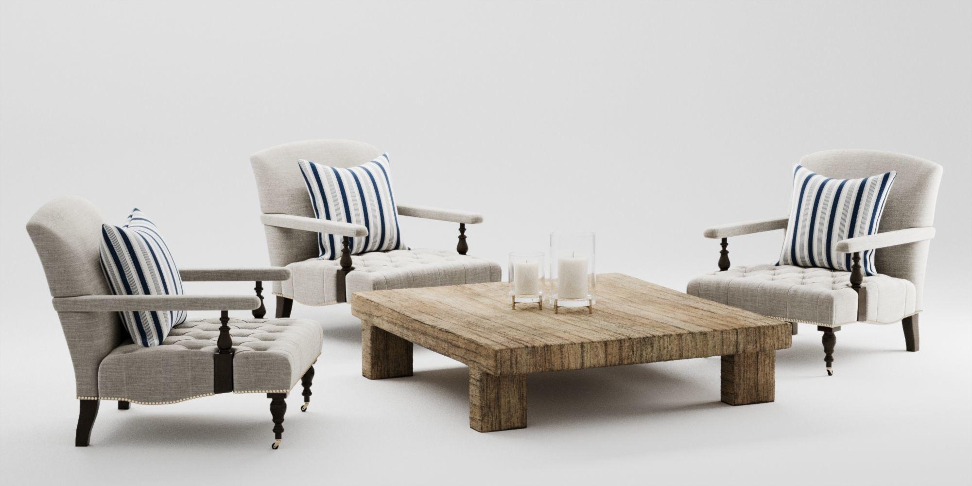 Ralph Lauren Oliver Chair Set 3D model | CGTrader