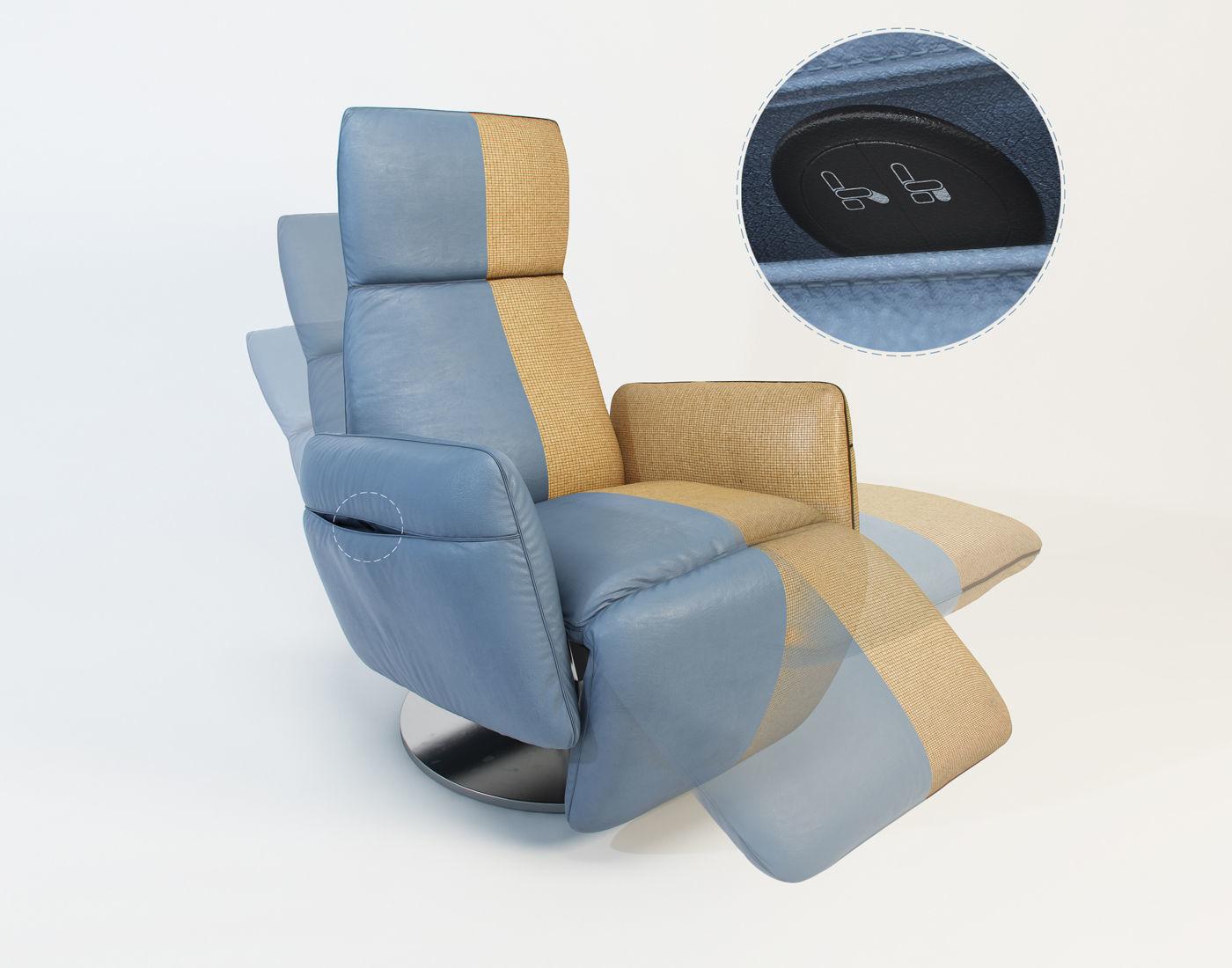Poltrona Frau Pillow.Poltrona Frau Pillow Armchair 3 Different Positions 3d Model