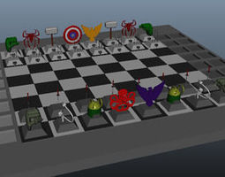 Marvel Chess Game 3D print model