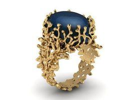 Ring T00833 gold 3D printable model