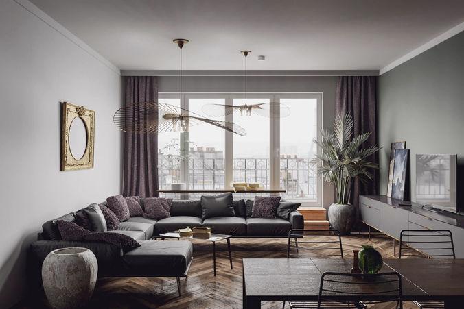 paris luxury apartment 3d model c4d 1