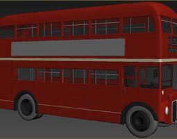 low-poly Transport Bus 3D model mobistore