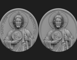 3D print model Saint Jude Medallion