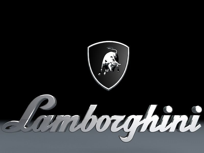Lamborghini Logo 3d Model Car Cgtrader