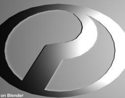 Logo Perodua Kancil Car 3D Model