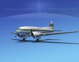 Douglas DC-3 Aer Lingus 3D Model