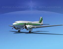 Douglas DC-3 Aero Master 3D Model
