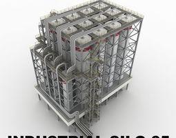 3D model Industrial silo 05