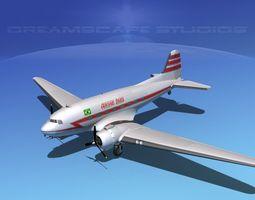 Douglas DC-3 Aerovias Brasil 3D Model