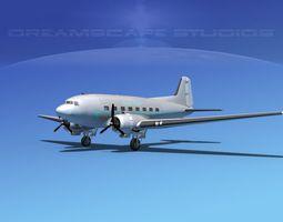 Douglas DC-3 Aigle Azure 3D Model
