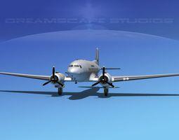 Douglas DC-3 Air America 3D Model