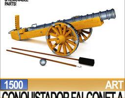 Conquistador Cannon Falconet A 1500 3D Model
