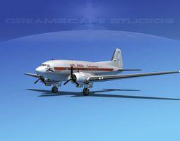 Douglas DC-3 Air India 3D Model