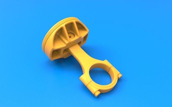 3d printable piston assembly 3d model stl 1