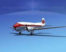 Douglas DC-3 Alabama Air Service 3D Model