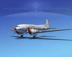 Douglas DC-3 American Airlines 3D Model