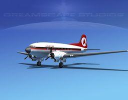 Douglas DC-3 Ansett Airways 3D Model