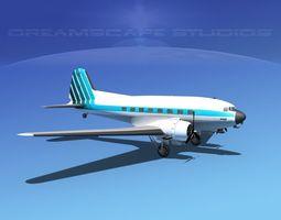 Douglas DC-3 Atlantic Aero 3D Model
