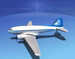 Douglas DC-3 Baltimore Clipper 3D Model