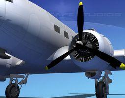 Douglas DC-3 Bare Metal 3D Model