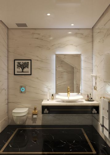 ... Two Modern Hotel Bathroom 3d Model Max 4 ...