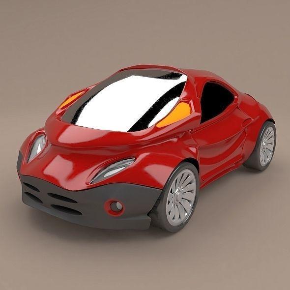 Futuristic city car concept
