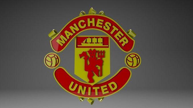 Manchester United 3d Logo Cgtrader