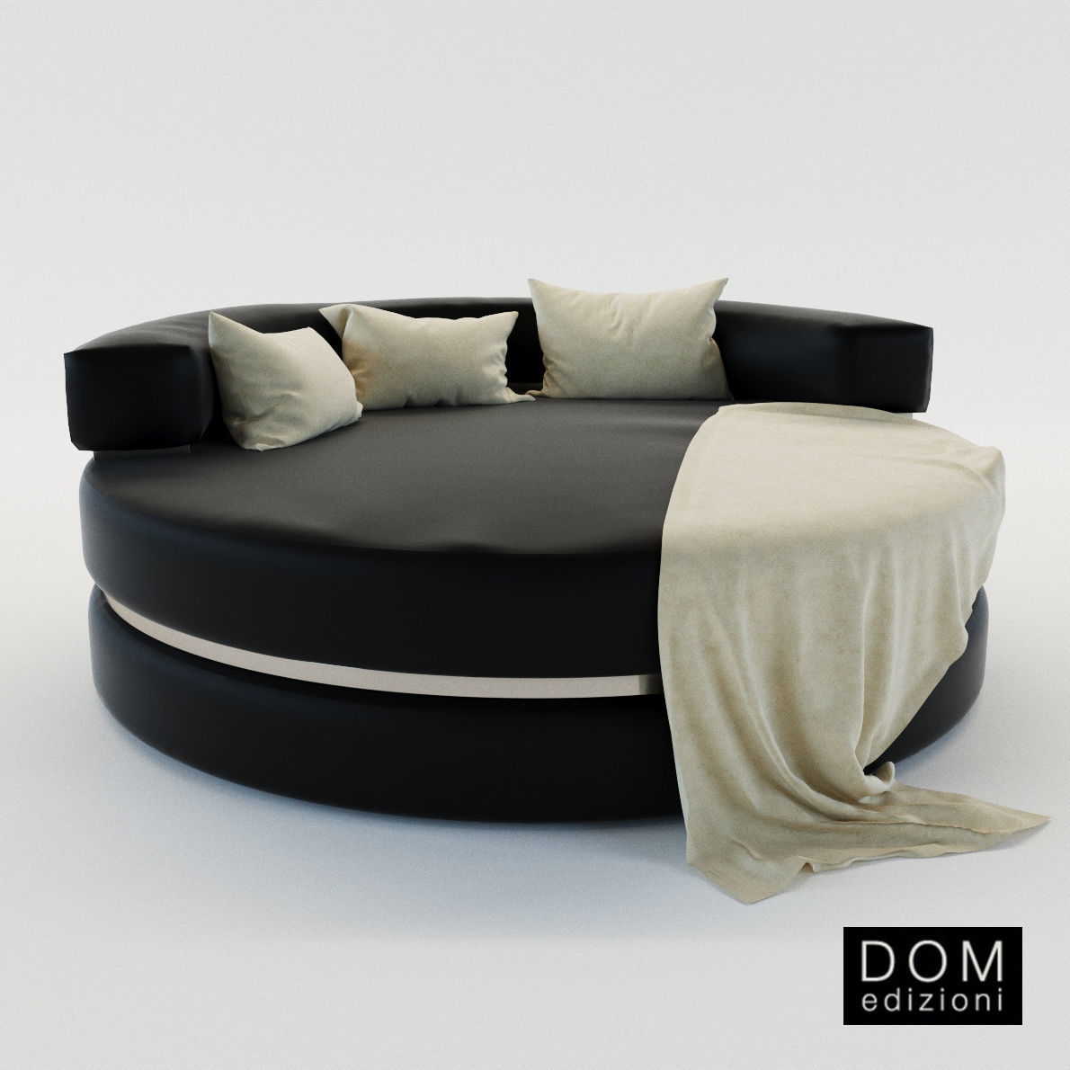 - Round Chaise Longue Loveseat - Dom Edizioni 3D CGTrader