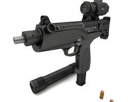 submachine gun AEK-919K Kashtan 3D model