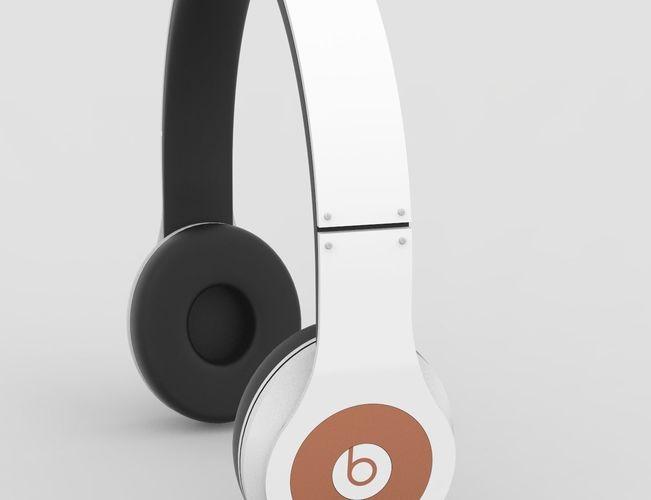 headphone beat studio 3d model obj mtl 3ds 3dm 1