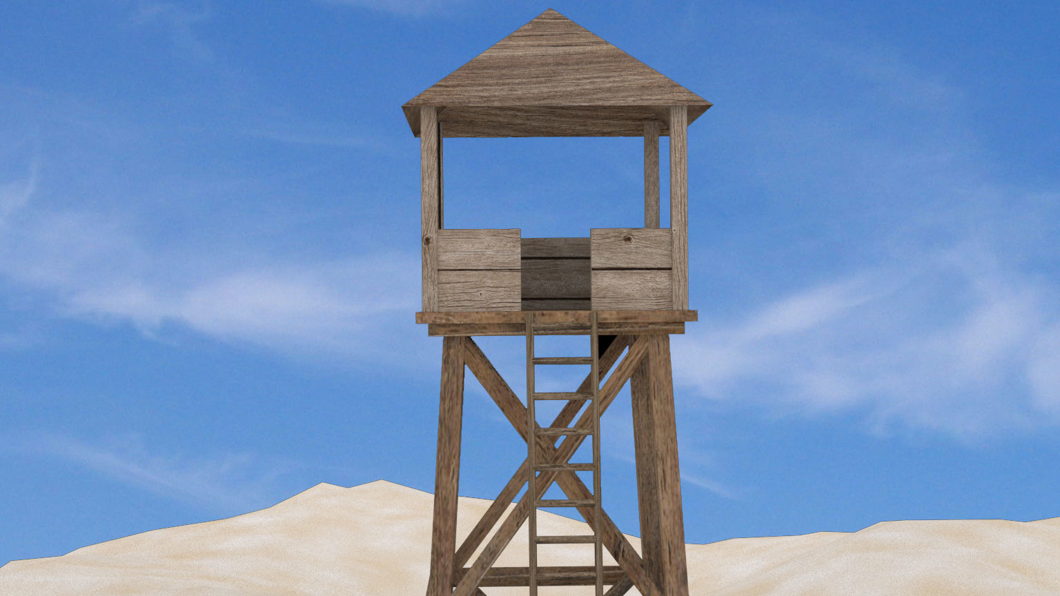Watch tower - low poly