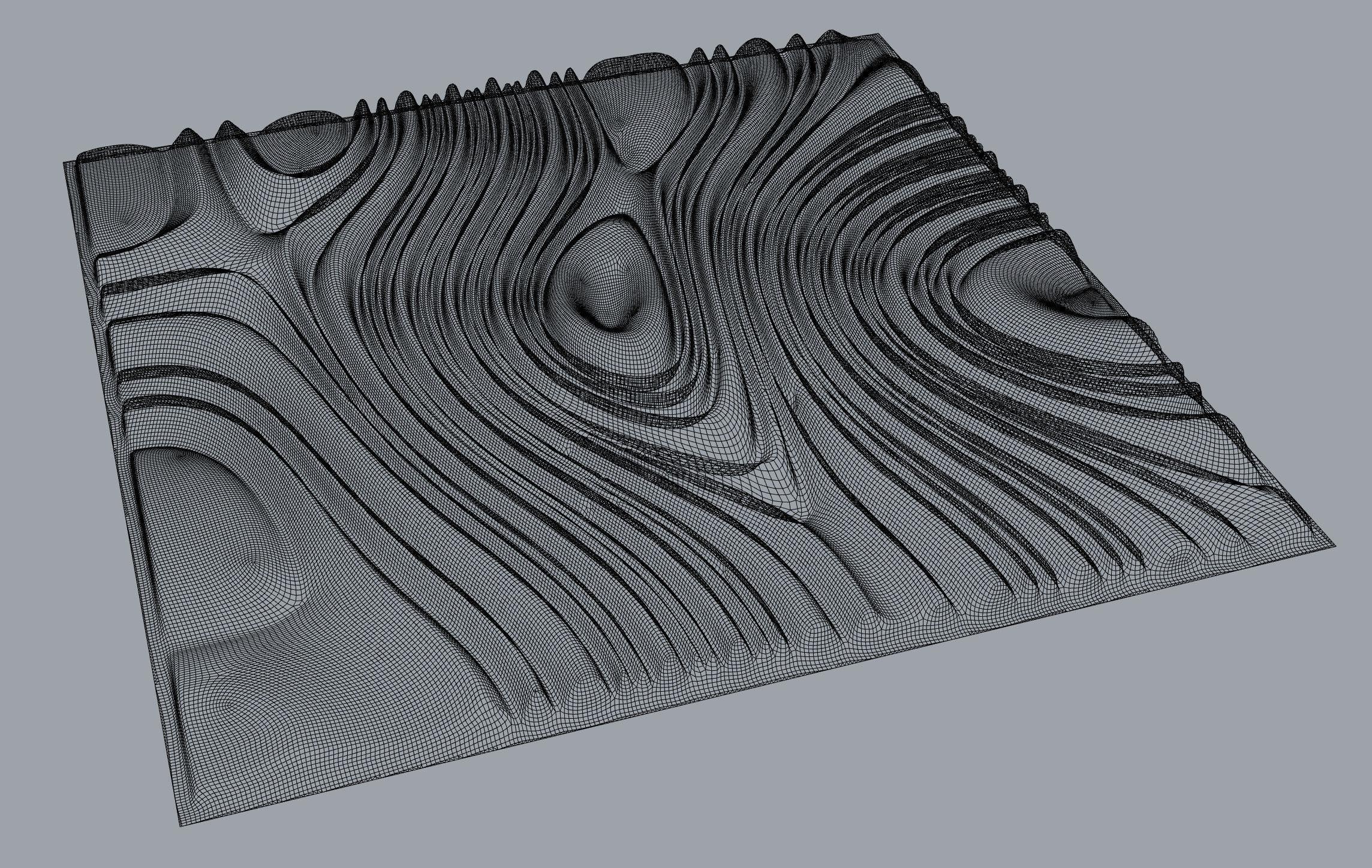 Tileable 3d Relief Sb20 For Cnc 3d Model 3d Printable Obj