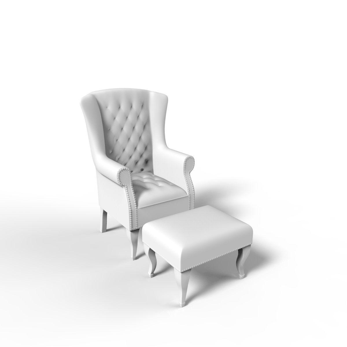 Miniature 3d Print Ready Chair 19 3d Model 3d Printable