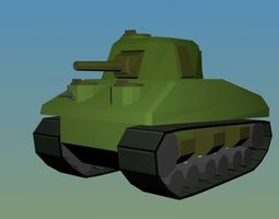 Low Poly WW2 Sherman Tank 3D model