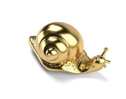 SNAIL BROOCH SOLID gold 3D print model