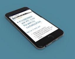 apple 3D iPhone 6 - original dimensions