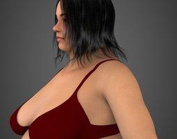 Realistic Fat Woman 3D Model