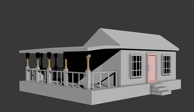 Simple House 3d Model Fbx 5