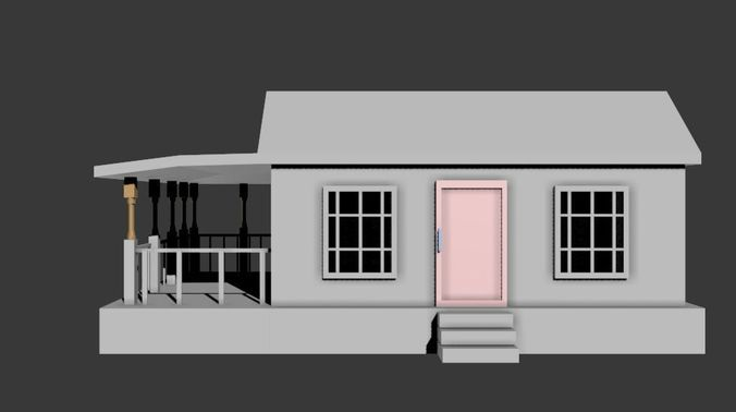 Simple house 3d model fbx Simple 3d modeling online