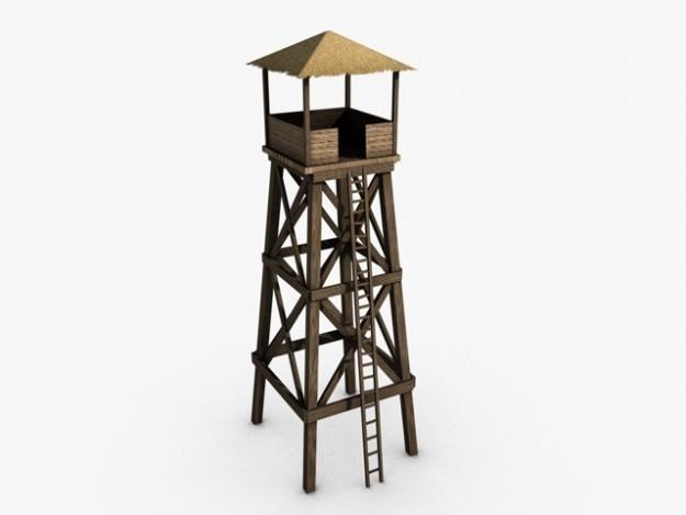 Watchtower 3d model max obj 3ds fbx c4d cgtrader com