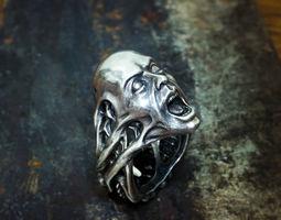 3D print model Scream ring