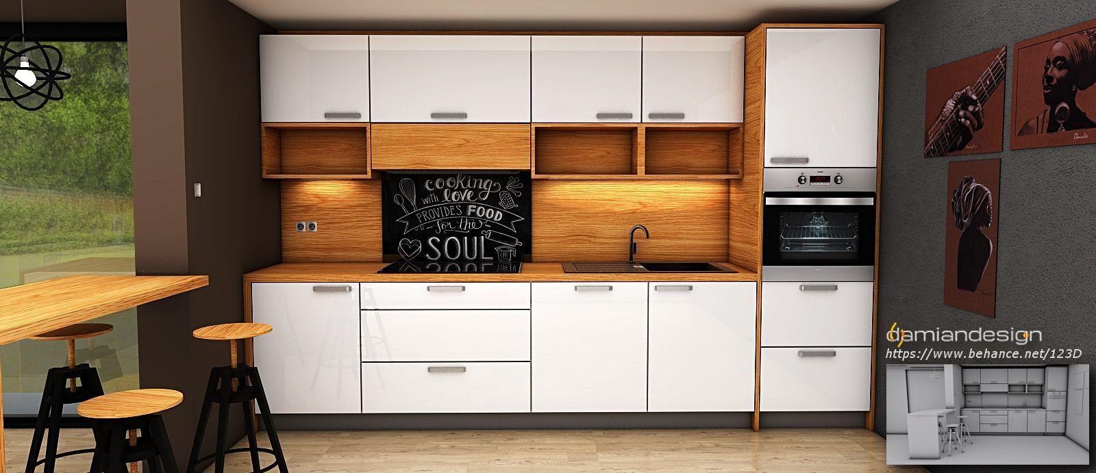 contemporary modern kitchen design 3D model | CGTrader