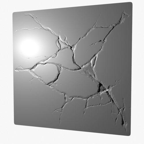 stone cracks sculpted  3d model obj mtl blend ztl 1