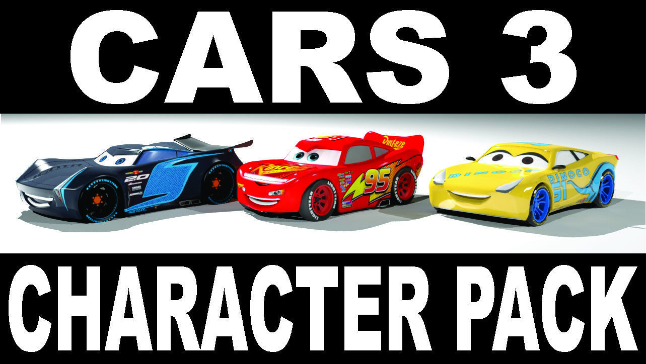 CARS 3 CHARACTER PACK 3D