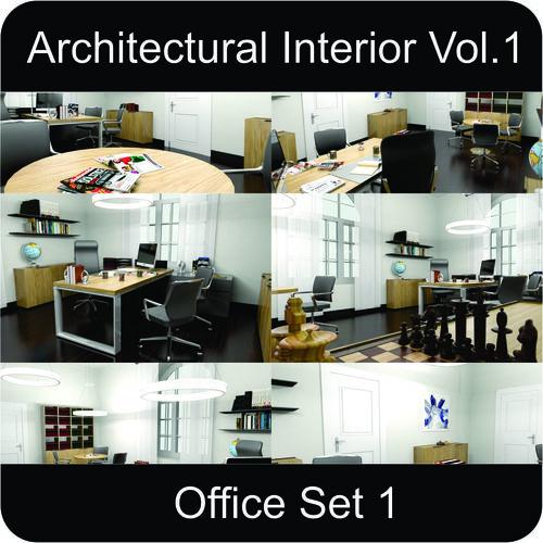 office architectural interior vol-1 3d model low-poly max obj 3ds fbx mtl gsm 1