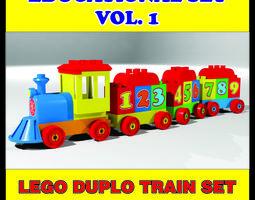 animated LEGO DUPLO TRAIN HIGH QUALITY 3D